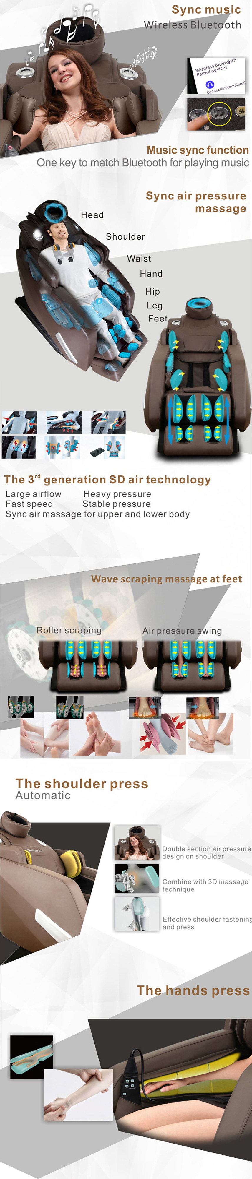Texts for massage chair MD-L9000